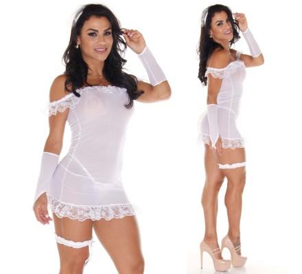 Vestido Noiva Aline SexShop Outlet do Prazer