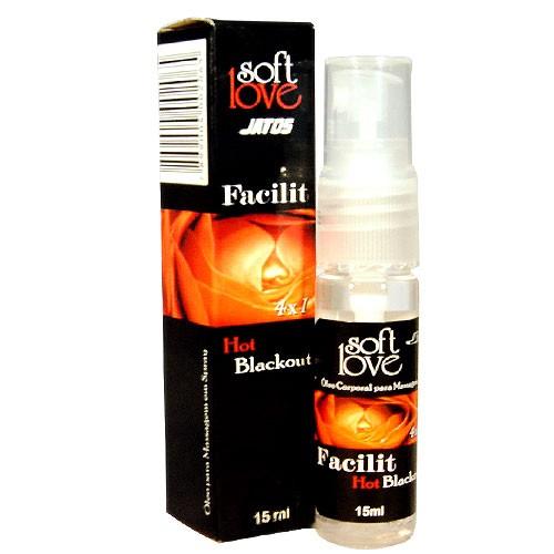 Facilit Blackout Hot Lubrificante 4 em 1 15ml Soft Love