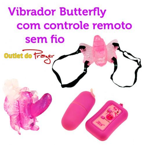 Vibrador Feminino Butterfly com controle remoto sem fio